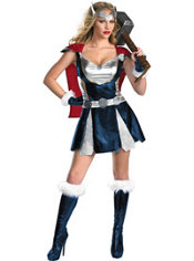 Adult Sassy Thor Costume Deluxe