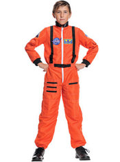 Boys Orange Astronaut Costume