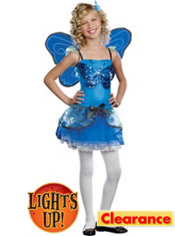 Girls Blue Butterfly Beauty Light-Up Costume