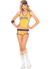 Adult Sexy LA Lakers Costume Deluxe