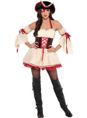 Adult Sexy First Mate Pirate Costume