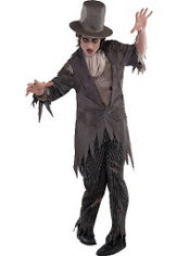 Adult Antique Zombie Groom Costume