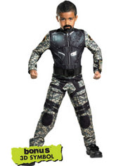 Boys Roadblock Costume - G.I. Joe