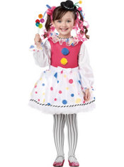 Toddler Girls Cutsie Clown Costume