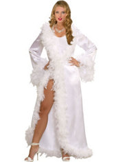 Adult Hollywood Marabou Robe Starlet Costume
