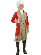 Red Coat Colonial Costume Boys