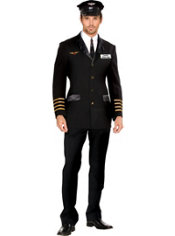 Adult Mile High Pilot Hugh Jorgan Costume