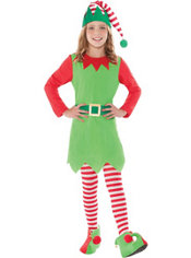 Girls Merry Elf Costume