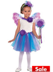 Girls Lavender Daisy Fairy Princess Costume