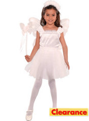 Girls White Jacqueline Butterfly Fairy Costume