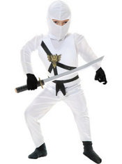 Boys White Ninja Avenger Costume