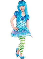 Toddler Girls Blueberry Muffin Costume - Strawberry Shortcake