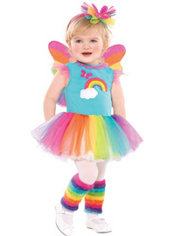 Toddler Girls Rainbow Fairy Costume