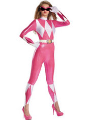 Adult Pink Ranger Bodysuit Costume - Power Rangers