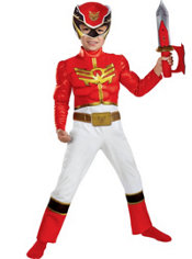 Toddler Boys Red Ranger Muscle Costume - Power Rangers Megaforce