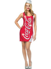 Adult Glitzy Coca-Cola Costume