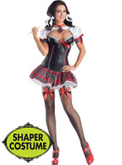 Adult School Girl Body Shaper Costume