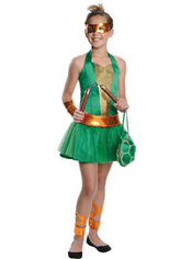 Teen Girls Michelangelo Costume - Teenage Mutant Ninja Turtles