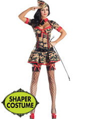 Adult Army Brat Body Shaper Costume