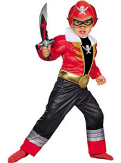 Toddler Boys Red Ranger Muscle Costume - Power Rangers Super Megaforce
