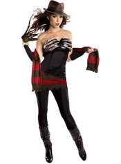 Adult Corset Freddy Krueger Costume - A Nightmare on Elm Street