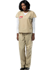 Adult Beige Prisoner Costume - Orange is the New Black