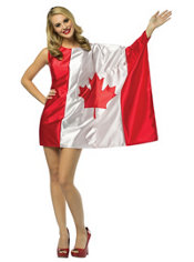 Adult Canadian Flag Dress