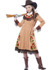 Girls Vintage Cowgirl Costume