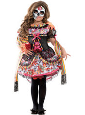 Girls Exuberante Day of the Dead Costume