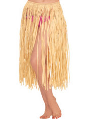 Adult Natural Grass Hula Skirt 28in Party City