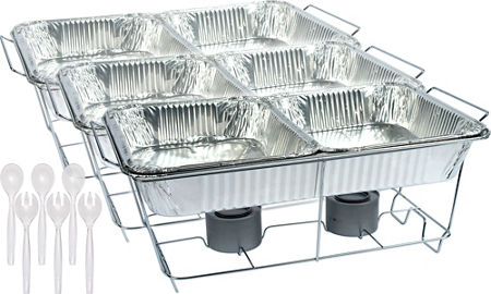 Chafing Sets - Chafing Dishes, Aluminum Pans & Chafing Fuel - Party City