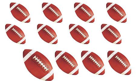 quick shop football cutouts 12ct cardstock decorations - Football Decorations