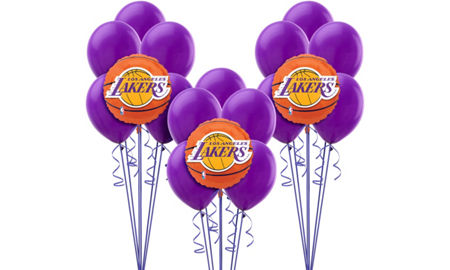 Nba los angeles lakers party supplies party city canada for Balloon decoration los angeles