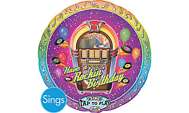 Rocking Birthday Singing Foil Balloon 28in
