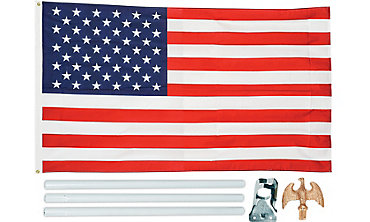 Flag Pole Kit with American Flag