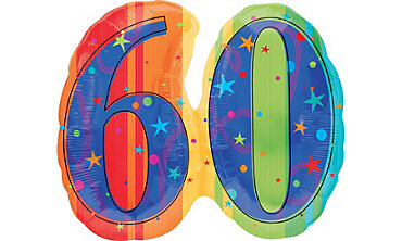 A Year to Celebrate 60th Birthday Foil Balloon 26in