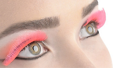 Neon Pink False Eyelashes
