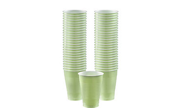 Leaf Green Plastic Cups 12oz 50ct