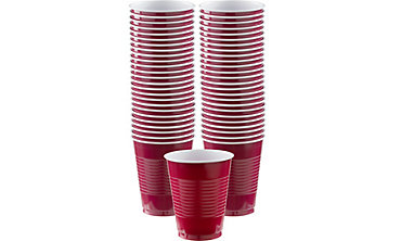 Berry Plastic Cups 16oz 50ct