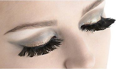 Black Feather False Eyelashes