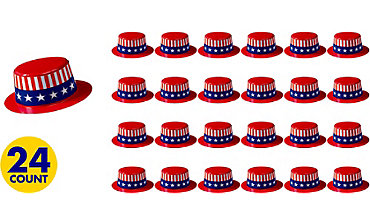 Patriotic Mini Top Hat 24ct