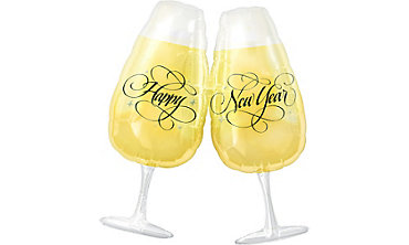 Foil Toasting Glasses New Years Balloon 30in