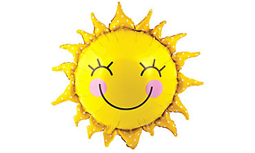 Foil Smiling Sun Balloon 26in