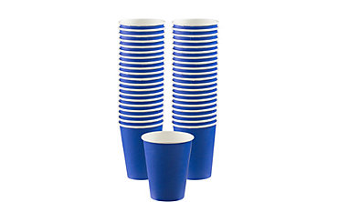 Royal Blue Paper Coffee Cups 40ct