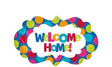 Foil Giant Cabana Polka Dot Welcome Home Balloon 27in