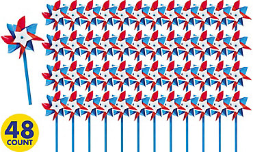 Patriotic Pinwheels 48ct