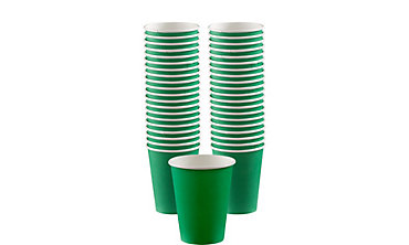 Festive Green Paper Coffee Cups 40ct