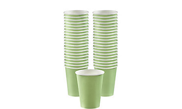 BOGO Leaf Green Paper Coffee Cups 40ct