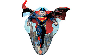Foil Supershape Man of Steel Superman Balloon 38in