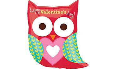 Valentine's Day Balloon - Owl
